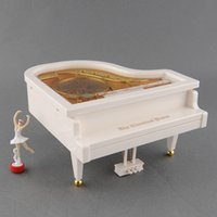 Wholesale New Cute Lovely Romantic White Piano Dancer Alice Ballet Girl Music Musical Box Toy Valentine s Gift
