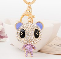 bear pendent - new arrival Cute bear pendent with rhinestone keychains key ring fashion accessories for bags for keys cute gift