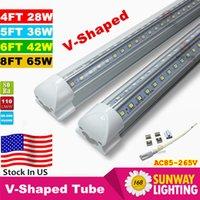 ac doors - 8ft led V Shaped ft ft ft Cooler Door Led Tubes Integrated Led Tubes Double Sides SMD2835 Led Fluorescent Lights AC V UL DLC