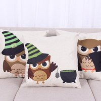 big office chairs - 45cm Cartoon Big Eyes Owl Flowers Cotton Linen Fabric Throw Pillow inch Fashion Hotal Office Bedroom Decorate Sofa Chair Cushion