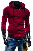 Wholesale Cheap Casual Hoodies - Cheap sell wholesale multicolor hoodies 2016 autumn and winter new European style men's casual hooded fleece cardigan sweater jacket 5 color