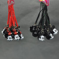 Wholesale X Mickey Minnie Mouse Cell Phone Strap JINGLE BELLS Dangle Charms New Dolls Accessories