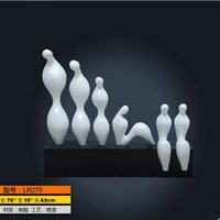 angels fashion crafts - modern talbe arts sculpture White abstract sculpture resin crafts creative home accessories sculptures character study fashion decoration