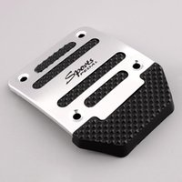 Wholesale OEM Black Silver Aluminium Alloy Non slip Pedal Foot Treadle Cover