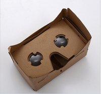 Wholesale DIY Google Cardboard Mobile Phone Virtual Reality D Glasses Unofficial Cardboard Google Cardboard VR Toolkit D Glasses vr box