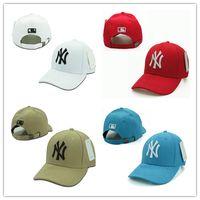 baseball visors - Baseball Cap NY Embroidery Letter Sun Hats Adjustable Snapback Hip Hop Dance Hat Summer Outdoor Men Women White Black Navy Blue Visor
