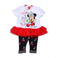 Wholesale 2016 Time limited Sale Original Brand Baby Girl s Minnie Mouse Dress And Legging Set minnie Pants Two Pieces Sets minnie Clothing Set
