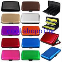 aluminum cardcase - Fashion Aluminum Metal Waterproof Box Case Business ID Credit Card Holder Wallet cardcase