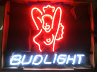 advertising tube - Bud Light Neon Sign bar Store Club Pub KTV Real Glass Tube Advertising Display Neon Signs quot X14 quot Sales Promotion