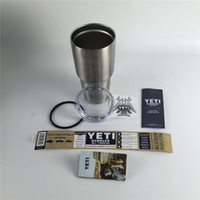 beer bottle packaging - Yeti oz Cups Yeti Cooler Rambler Tumbler Travel Vehicle Cars Beer Mug with Double Wall Bilayer Vacuum Insulated with Original Packaging
