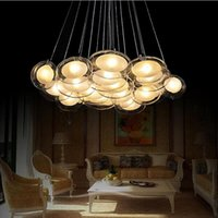Wholesale lustres de sala modern glass dining room living room pendant lights lamp lustre de teto home led fixture glass lights lampadari