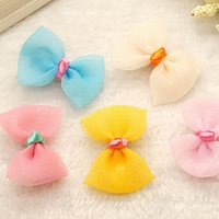 asian silk fabric - Candy color baby girls mesh clips cute babies silk barrettes children hair jewelry kids hair accessories