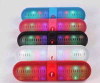 Wholesale Mini Speaker Pill S SIZE Bluetooth Protable Wireless Stereo Audio Super Bass Audio Super Bass U Disk TF Slot With Handle