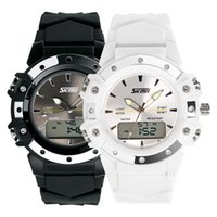 analog tide watches - Genuine watch men and women tide outdoor sports watch multifunction electronic watch waterproof dual display neutral