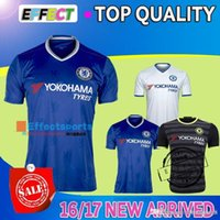 Wholesale Thai quality Chelsea home and away blue white black three TERRY William dangerous Pedro OSCAR DIEGO COSTA clothes
