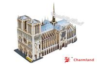 Wholesale Kids Toys D Puzzle Beneficial to wisdom Natre Dame de Paris France DIY Jigsaw puzzle Educational Toys Paper Model