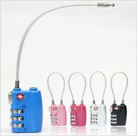 Wholesale 2016 Travel abroad supplies Lock TSA719 jia the customs Travel luggage security rope combination lock