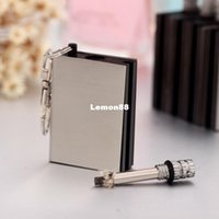 Wholesale Wilderness survival essentials stainless steel key chain wheel lighter creative charm lighters