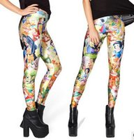 animated pants - Europe and the United States the new digital sky animated cartoon leggings Individuality stretch yoga pants Snow White panty
