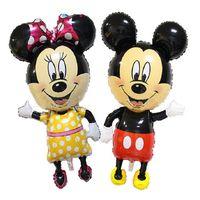 aluminium cake - New Meters Super Sized Mickey Mouse Cartoon Animal Aluminium Mickey Minnie Foil Balloons Birthday Party Supplies Wedding Balloon