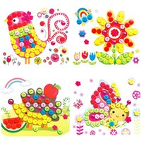 Wholesale D Eva Foam Puzzles Stickers Kids Handmade Button Toys Self adhesive Gift K5BO