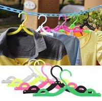 Wholesale Coat Hanger Rack Portable Foldable Hanger Folding Plastic For Travel New