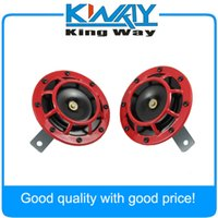 Wholesale PC RED SUPER LOUD GRILLE MOUNT COMPACT ELECTRIC BLAST TONE HORN KIT FOR V