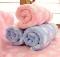 baby bath towel pattern - 1 piece household quick dry cotton rectangle shape dot pattern woven family washing towel