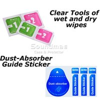 alcohol clothing - Cleaning clothes Wet and Dry in1 of Wipes Dust Absorber Guide Sticker Tempered Glass screen Protector Alcohol Cleaning for Cellphone LCD