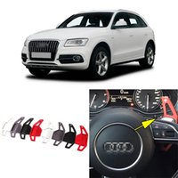 Wholesale Automotive Interior Parts Brand New High Quality Alloy Add On Steering Wheel DSG Paddle Shifters Extension For Audi Q5