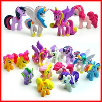 action collectibles - 12 Best Friend My Little Pony Action Figure Plastic PVC Mini Figure Toys Collectibles Dolls for children kids Chiristmas gift