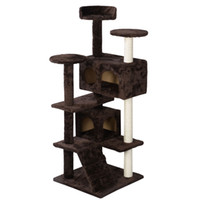 Wholesale New Cat Tree Tower Condo Furniture Scratch Post Kitty Pet House Play Brown