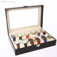 Wholesale Direct Selling Men Grids Slot Jewelry Watches Gift Box Flannel Display Packaging Luxury Case Gift Organizer With Pillows