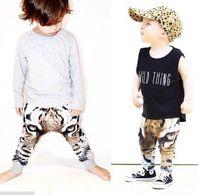 baby silk pant - Retail INS Tiger Head Kids Pant Summer Autumn Baby Boys Girls trousers Milk Silk D Printing Harem Children Pants Fit1 T