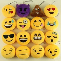 Wholesale Emoji toys cm mobile phone Emoji Smiley keychains love keychainS for Kids Emoji Keychains Difference style Mixed