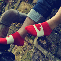 america flag colors - Fahion Trendy Pure Cutton Colors Flag Canada America Norway Low Cut Short Ankle Men Socks