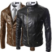 big men motorcycle jackets - New Black Pu Leather Jacket Men Fashion Design Big Lapel Mens Slim Motorcycle Biker Jacket Jaqueta Couro Veste Cuir Homme