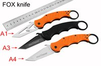 Wholesale NEW karambit FOX karambit training Knife G10 HANDLE cr13mov BLADE HRC Survival knife outdoor knife