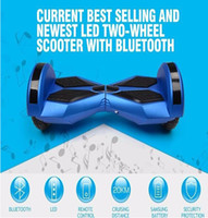 Wholesale 8 inch smart balance electric standing scooter bluetooth music LED speaker remote wheels mini Drifting Roller hoverboard