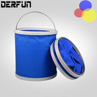 big bucket car wash - Multifunctional L Big Volume Folding Camping Barrel Car Washing Oxford Bucket Foldable Outdoor Fish barrel