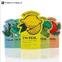 aloe facial - Tonymoly I m REAL Facial Mask Sheet Korea Face Care Moisturizing Skin Care Aloe Vera Powder Face Mask DHL