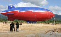 airship balloon - ft m Long Inflatable Zeppelin Helium Airship Advertising Blimp Sky Flying for Events