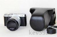Wholesale Black Leather Camera case bag Grip Strap for Fujifilm Fuji X M1 X A1 X A2 XM1 XA1 XA2F