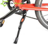 Wholesale Rockbros Adjustable Aluminum Bicycle Kickstand Folding Cyling Side Stand Parking Leg Racks Side Stick