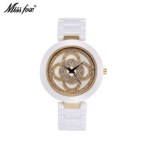 beautiful women dresses - Miss Fox Full Ceramic Watches For Women Elegant Skeleton Ladies Watches Dress Beautiful Family Waterproof Relogio Feminino