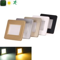 Wholesale 2w v Led intelligent wall light motion human body induction radar sensor stair light Light sensor step staircase hallway lighting