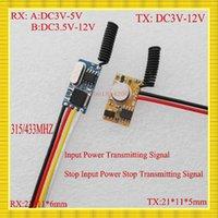 Wholesale MHZ Mini Remote Control Switch Micro Receiver Transmitter Module DC3V V Remote DC3 v v Receiver3 V V V6V9V RXTX