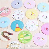 Wholesale new cute cartoon ladies makeup portable pocket tin mirror multi designs cute cartoon animal fashion Compact hand Cosmetic Make Up CN post