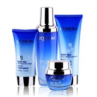 Wholesale Brand LOBESU Deep Ocean Face Skin Care Set Facial Cream Cleanser Toner BB Cream Anti Wrinkle Fine Lines Spot Remover Exfoliating
