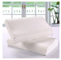 Wholesale Hot sale rectangle Memory pillow latex pillow pillow slow rebound space A neck pillow height wave pillow pillow core